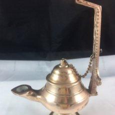 Antigüedades: LAMPARA DE ACEITE ,CANDIL MUY DECORATIVO -(19545). Lote 210473955