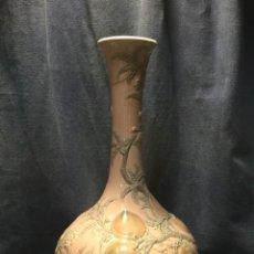 Antigüedades: JARRON LLADRO PORCELANA MELOCOTONES ROSA RELIEVES ROTO EN CUELLO PARA TRANSFORMAR EN PIE LAMPARA 48. Lote 210478811