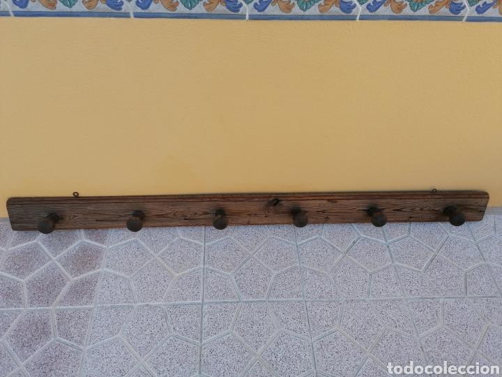 Antigüedades: Perchero de pared rústico antiguo - Foto 2 - 209877863