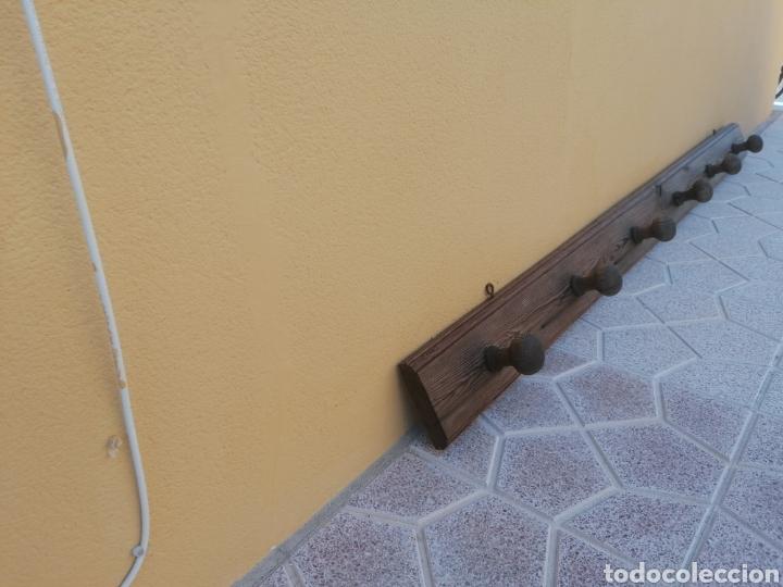 Antigüedades: Perchero de pared rústico antiguo - Foto 3 - 209877863