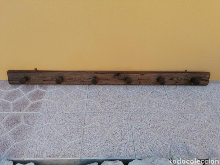 Antigüedades: Perchero de pared rústico antiguo - Foto 5 - 209877863