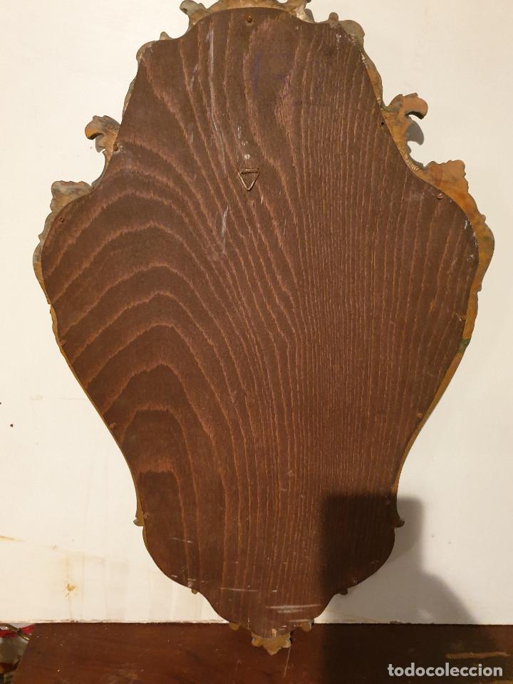 Antigüedades: ANTIGUA CORNUCOPIA DE MADERA TALLADA DORADA - Foto 16 - 210524733
