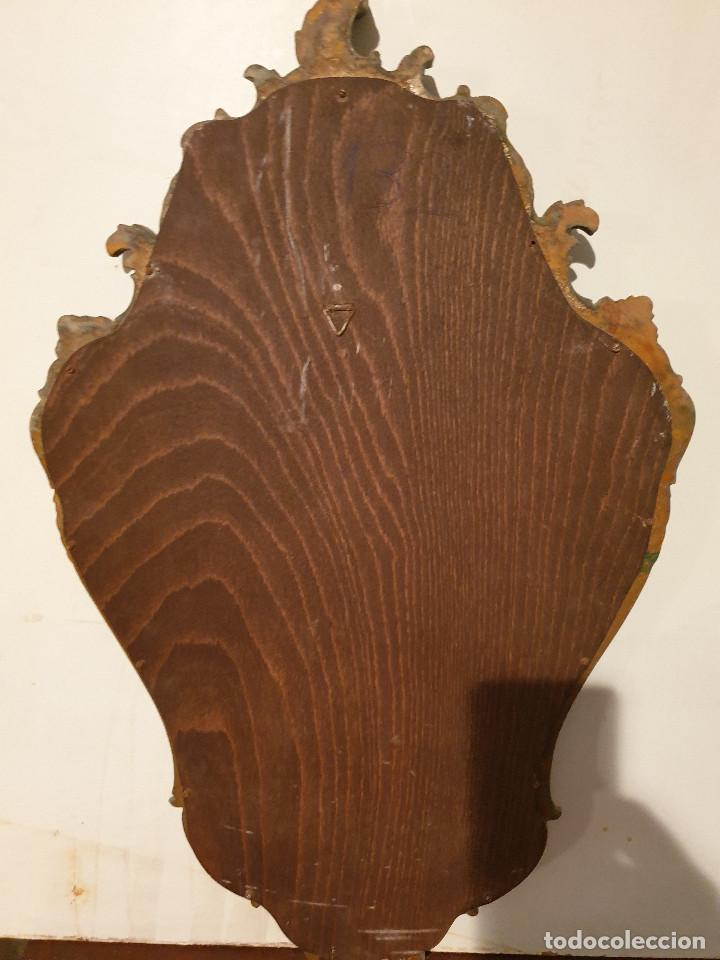 Antigüedades: ANTIGUA CORNUCOPIA DE MADERA TALLADA DORADA - Foto 15 - 210524733