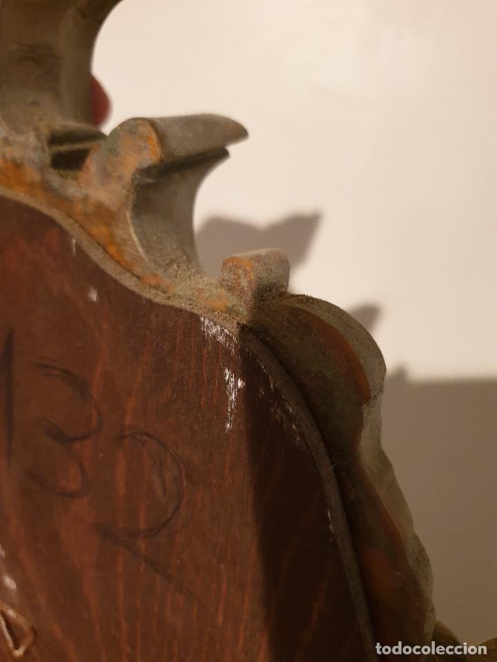 Antigüedades: ANTIGUA CORNUCOPIA DE MADERA TALLADA DORADA - Foto 18 - 210524733