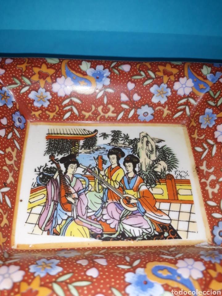 Antigüedades: Antiguo cenicero de cerámica japonesa - Foto 3 - 210528861