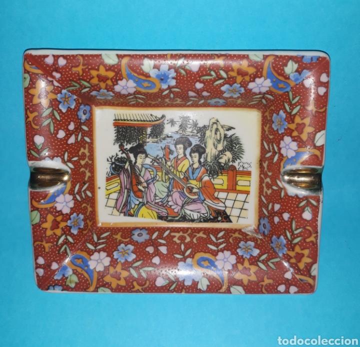 ANTIGUO CENICERO DE CERÁMICA JAPONESA (Antigüedades - Porcelanas y Cerámicas - La Bisbal)