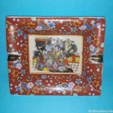 Antigüedades: ANTIGUO CENICERO DE CERÁMICA JAPONESA. Lote 210528861