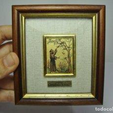 Antiquités: RELICARIO DE SAN FRANCISCO DE ASIS. LÁMINAS DE ORO DE 24 K.. Lote 210555241