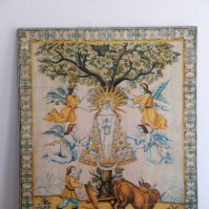 Antigüedades: CUADRO IMPRESO DE MADERA DE NUESTRA SEÑORA DE LLADÓ, CASTELLÓN DE LA PLANA VI CENTENARIO 1366-1966. Lote 210569123