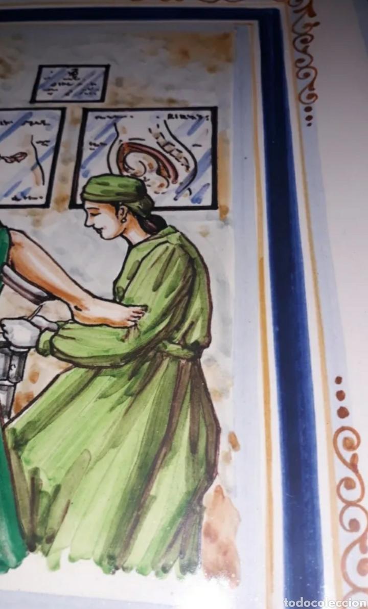 Antigüedades: Bandeja de Xavier Clau, cerámica d Alzira, pertenecía a Ramona Picallo - Foto 5 - 210572185