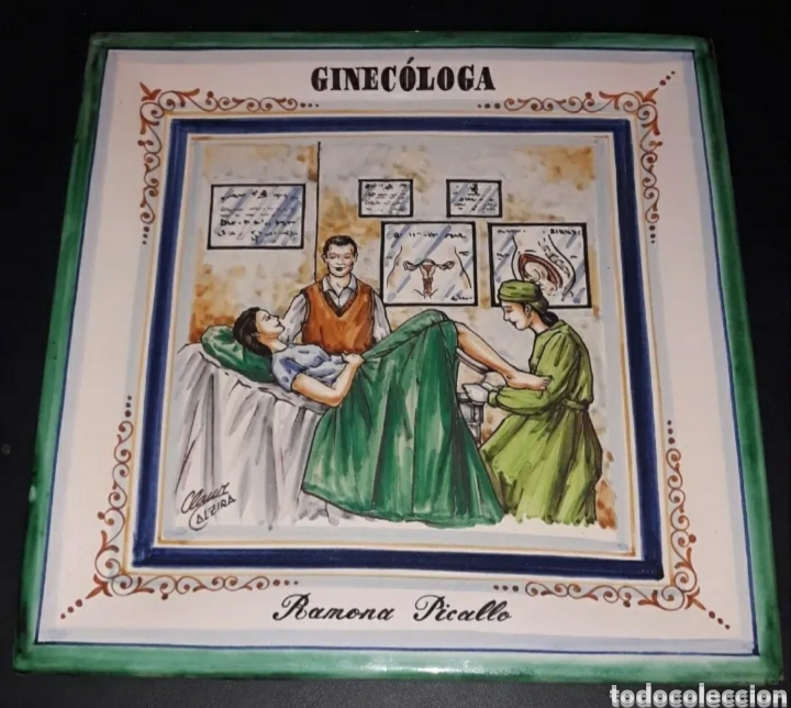 Antigüedades: Bandeja de Xavier Clau, cerámica d Alzira, pertenecía a Ramona Picallo - Foto 6 - 210572185