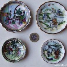 Antigüedades: LOTE 4 PLATOS PLATITOS PLATILLOS CHINOS PORCELANA CERAMICA CHINA. Lote 210598988