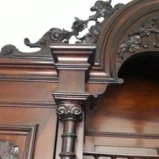 Antigüedades: APARADOR DE ESTILO ISABELINO DE CAOBA TALLADA DE 1850-1860.. Lote 210601508