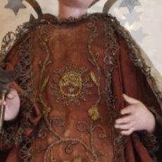 Antigüedades: ESCAPULARIO DE SEDA BORDADO CON CANUTILLO DE ORO PARA VIRGEN DEL CARMEN O SANTO DE VESTIR CAP I POTA. Lote 210606826