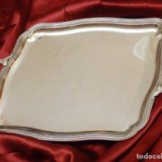 Antigüedades: BANDEJA DE PLATA 925 CON PUNZONES DE LA CRUZ DE MALTA. PESA 2748 GRAMOS. MIDE 55 X 37 CM.. Lote 210618141