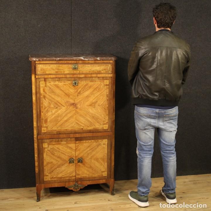 Antigüedades: Antiguo secrétaire francés de la época de Luis XVI - Foto 12 - 210624370