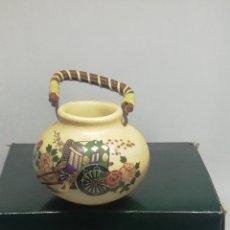 Antigüedades: JARRÓN CON ASAS SATSUMA AUTENTICO. Lote 210648432
