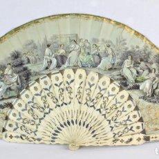 Antigüedades: ABANICO INDISCRETO, DE COLECCIÓN. GUARDA CON ESPEJO PARA VER TRAS LA ESPALDA DE LA DAMA. AÑOS 1800. Lote 210648718