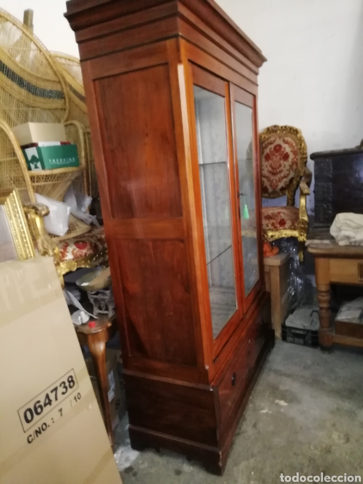 Antigüedades: Antigua vitrina de caoba - Foto 3 - 210649854