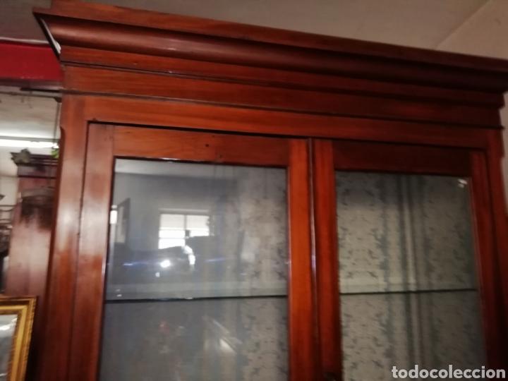 Antigüedades: Antigua vitrina de caoba - Foto 7 - 210649854