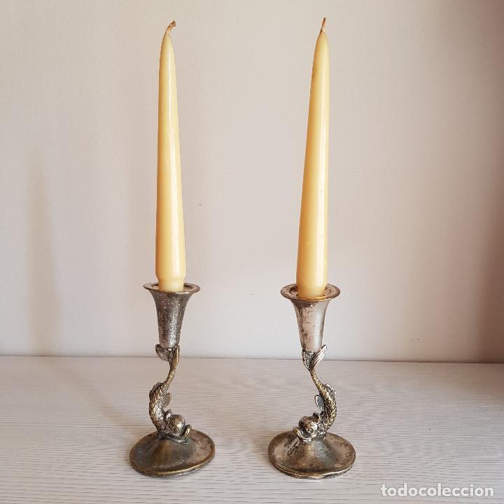 CANDELABROS AÑOS 50 (Antigüedades - Iluminación - Candelabros Antiguos)