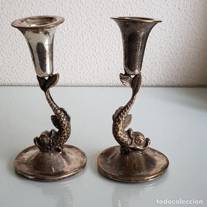 Antigüedades: CANDELABROS AÑOS 50 - Foto 2 - 210650355