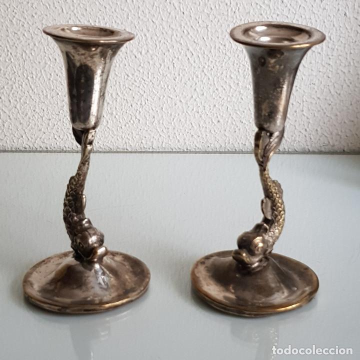 Antigüedades: CANDELABROS AÑOS 50 - Foto 4 - 210650355