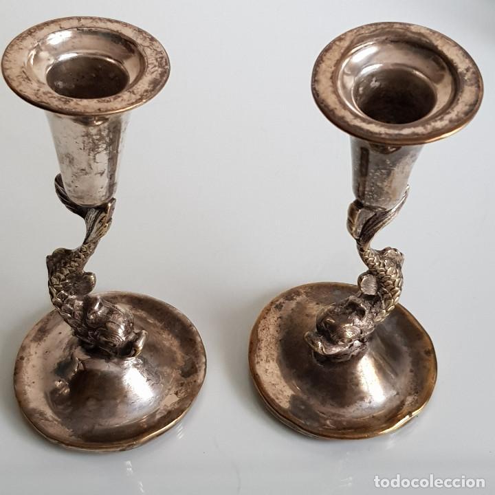 Antigüedades: CANDELABROS AÑOS 50 - Foto 5 - 210650355