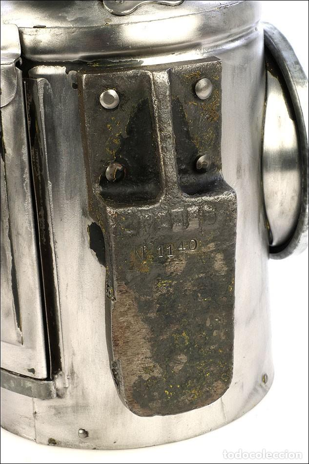 Antigüedades: Antigua Lámpara Ferroviaria de Vagoneta para Inspeccionar Vías. Buenos Aires, Argentina, Circa 1900 - Foto 20 - 210663356