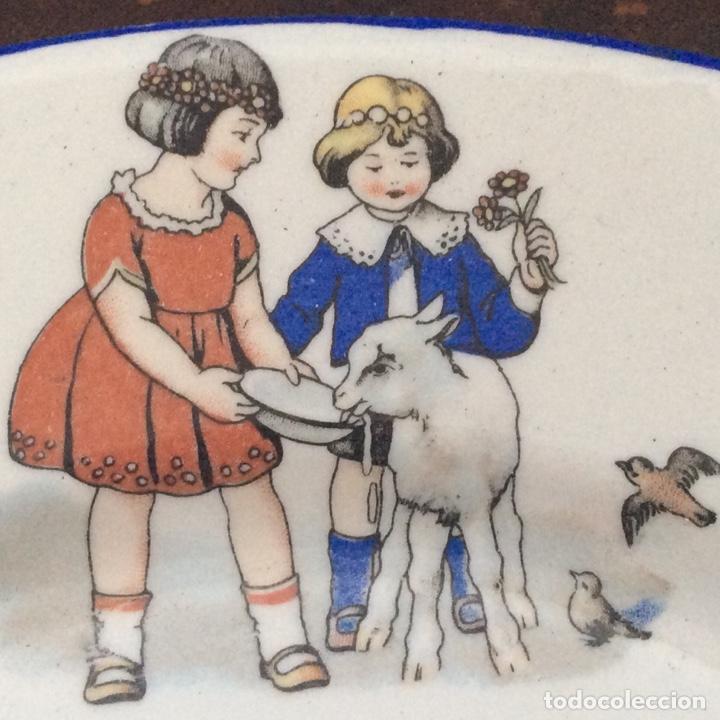JUEGO INFANTIL DE LOZA SAN JUAN DE AZNALFARACHE AÑOS 30 (Antigüedades - Porcelanas y Cerámicas - San Juan de Aznalfarache)