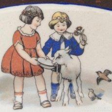 Antigüedades: JUEGO INFANTIL DE LOZA SAN JUAN DE AZNALFARACHE AÑOS 30. Lote 210672629