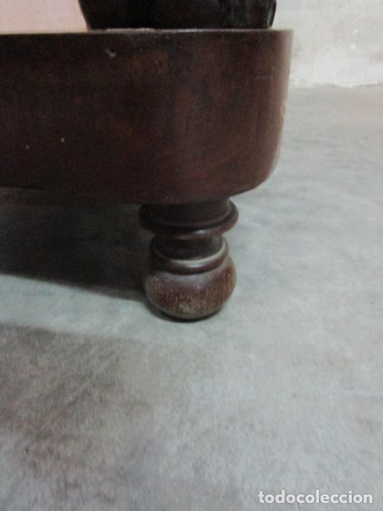 Antigüedades: Bonita Consola Isabelina - Madera Jacarandá, Caoba y Marquetería - Espejo Plateado Antiguo - S. XIX - Foto 12 - 210678411