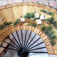 Antigüedades: ABANICO GRANDE DE BAMBU. Lote 210681232