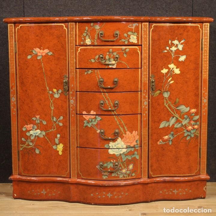 Antigüedades: Aparador chinoiserie lacado francés - Foto 2 - 210712949