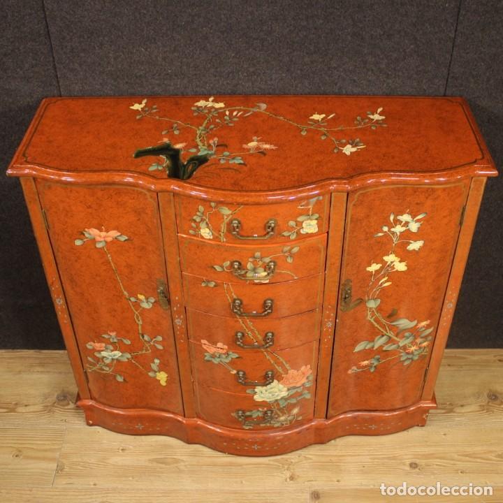 Antigüedades: Aparador chinoiserie lacado francés - Foto 4 - 210712949
