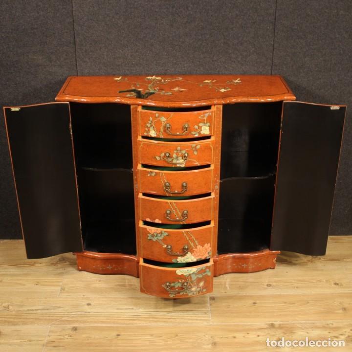 Antigüedades: Aparador chinoiserie lacado francés - Foto 6 - 210712949