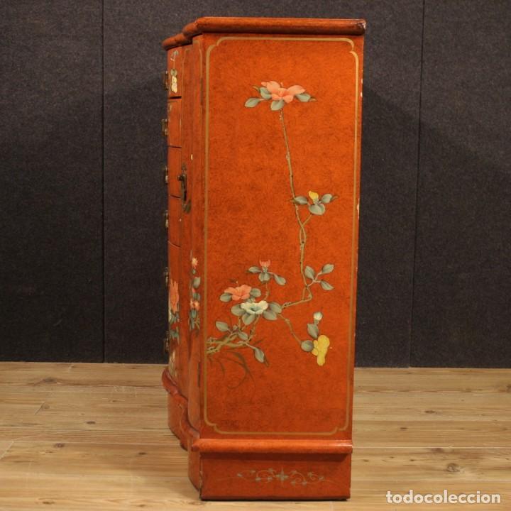 Antigüedades: Aparador chinoiserie lacado francés - Foto 11 - 210712949