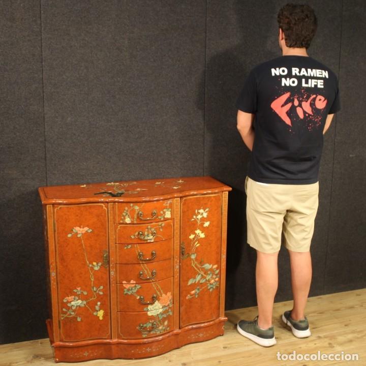 Antigüedades: Aparador chinoiserie lacado francés - Foto 12 - 210712949