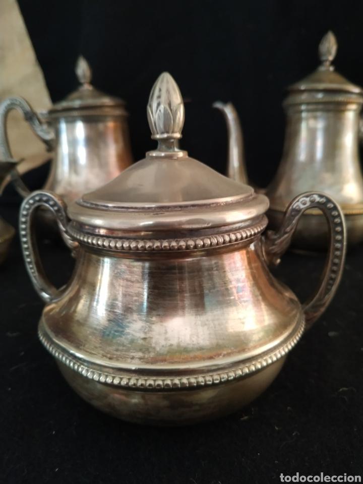 Antigüedades: Juego de café plateado .Ppios siglo xx . - Foto 2 - 210721386