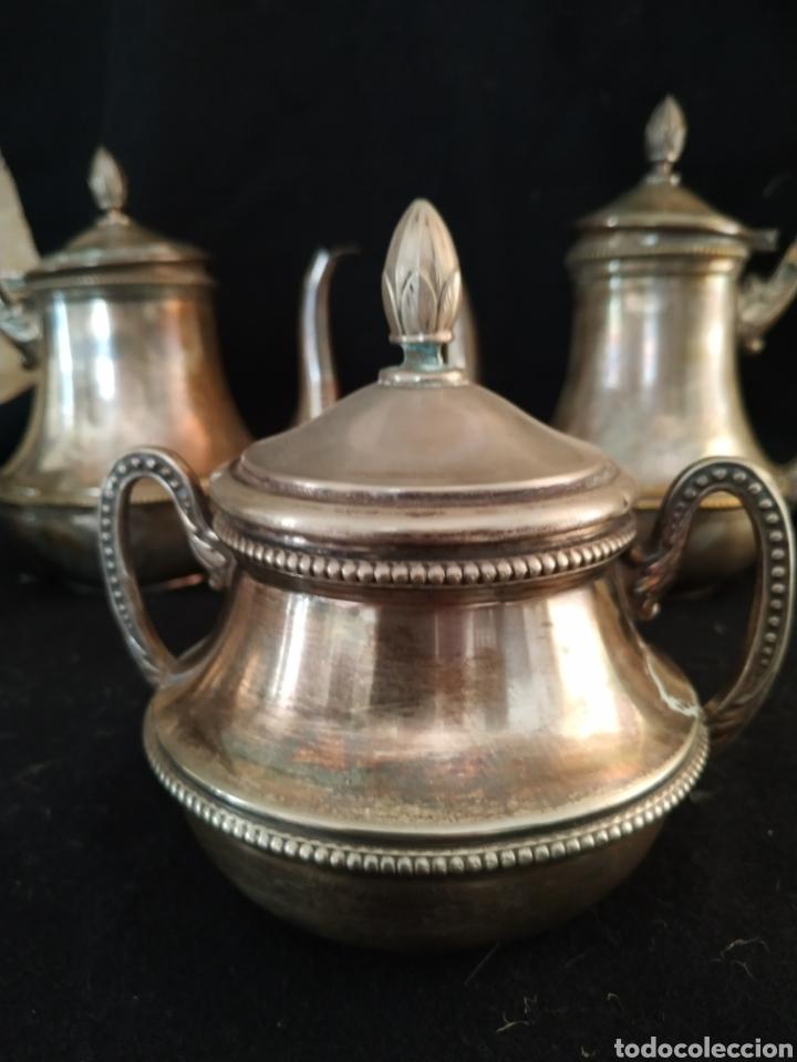 Antigüedades: Juego de café plateado .Ppios siglo xx . - Foto 3 - 210721386