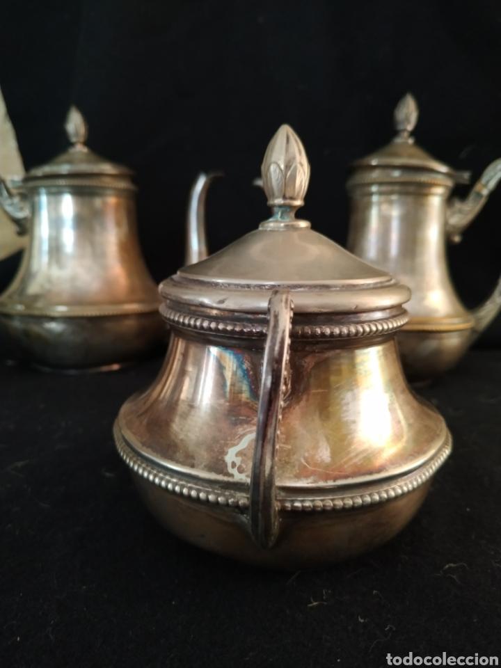 Antigüedades: Juego de café plateado .Ppios siglo xx . - Foto 4 - 210721386