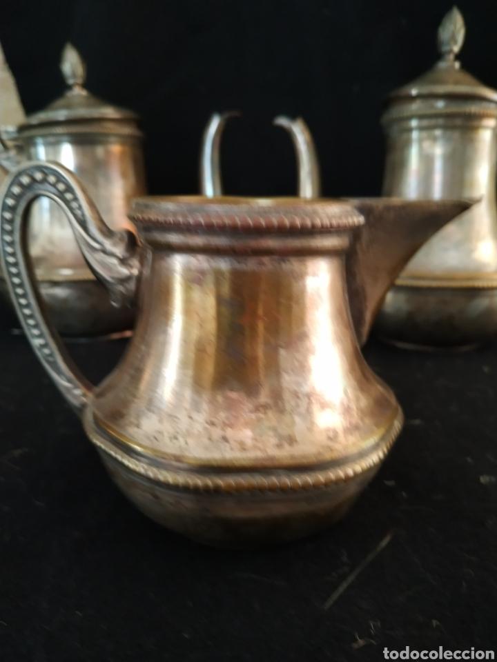 Antigüedades: Juego de café plateado .Ppios siglo xx . - Foto 6 - 210721386