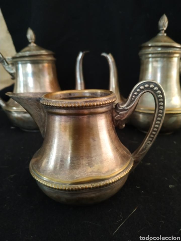 Antigüedades: Juego de café plateado .Ppios siglo xx . - Foto 7 - 210721386