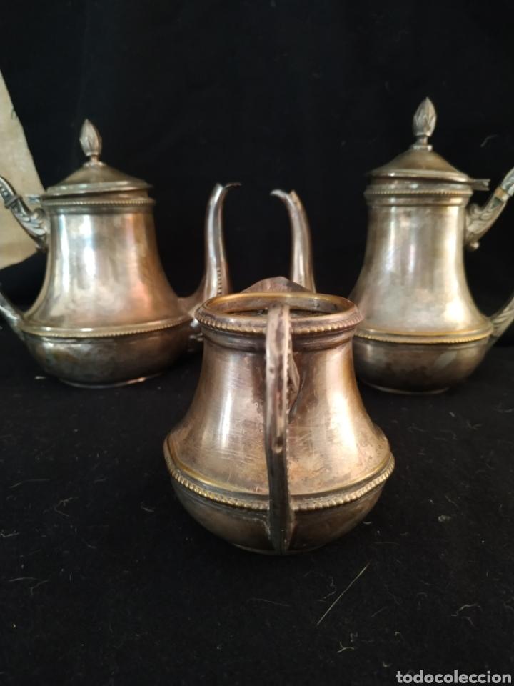 Antigüedades: Juego de café plateado .Ppios siglo xx . - Foto 8 - 210721386