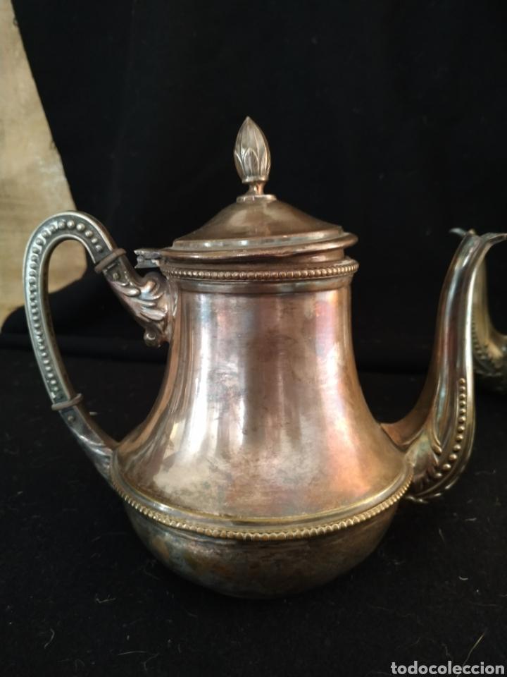 Antigüedades: Juego de café plateado .Ppios siglo xx . - Foto 10 - 210721386