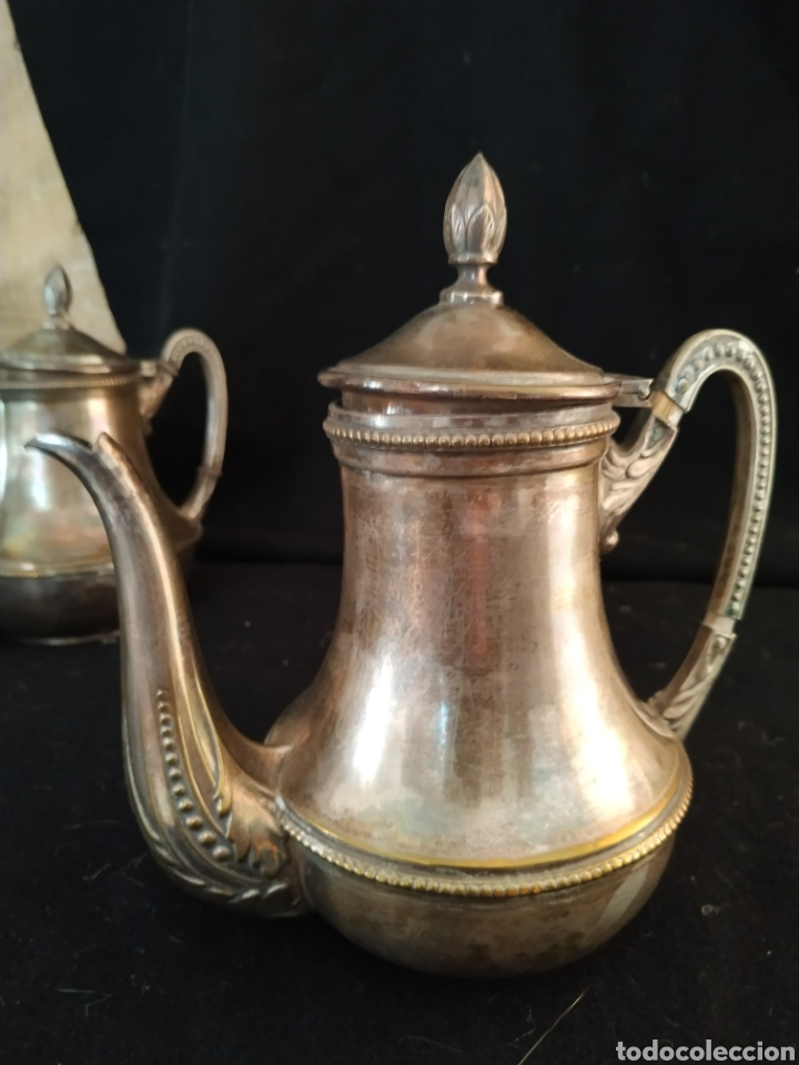 Antigüedades: Juego de café plateado .Ppios siglo xx . - Foto 15 - 210721386