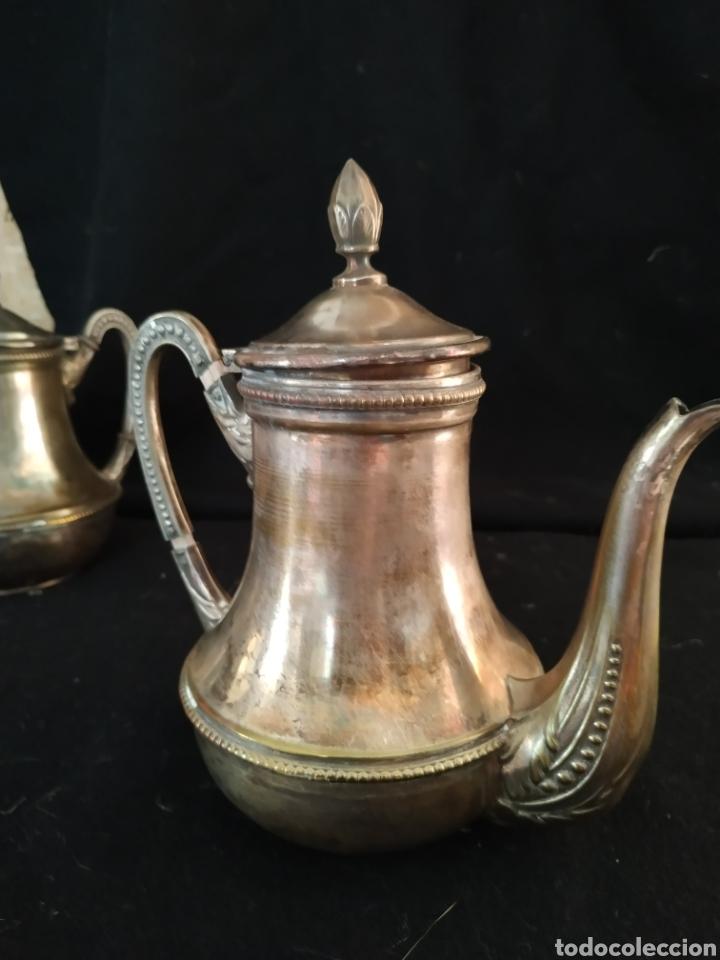 Antigüedades: Juego de café plateado .Ppios siglo xx . - Foto 16 - 210721386