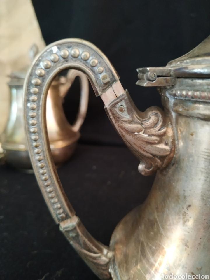 Antigüedades: Juego de café plateado .Ppios siglo xx . - Foto 17 - 210721386