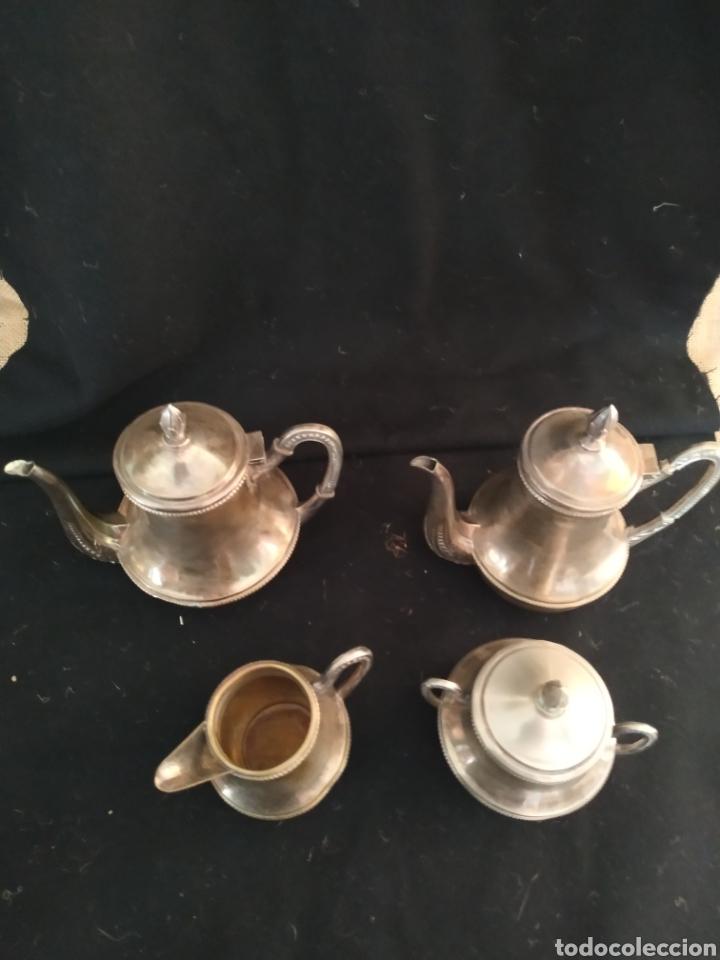 Antigüedades: Juego de café plateado .Ppios siglo xx . - Foto 24 - 210721386
