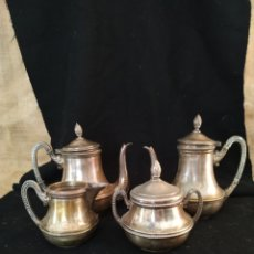 Antigüedades: JUEGO DE CAFÉ PLATEADO .PPIOS SIGLO XX .. Lote 210721386